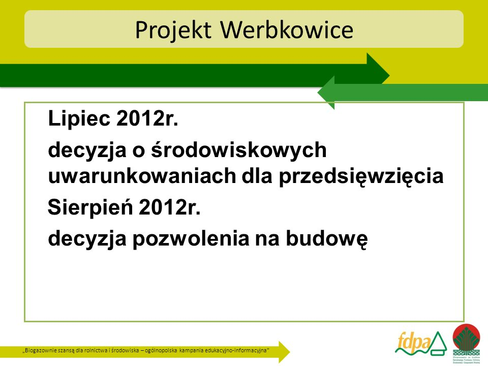 Projekt Werbkowice Lipiec 2012r.