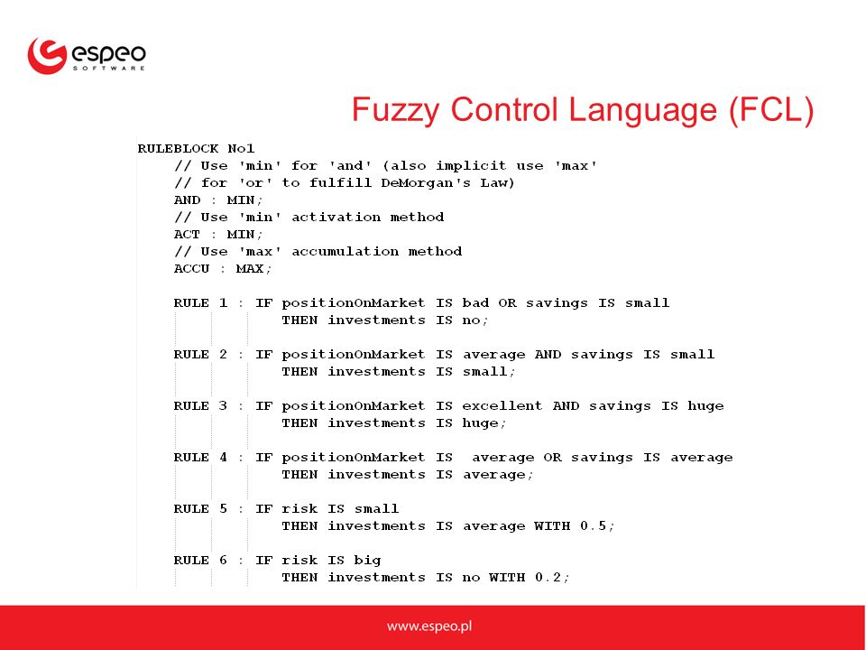 Fuzzy Control Language (FCL)