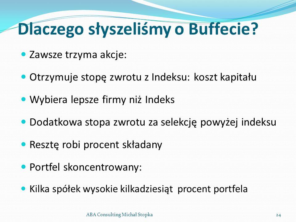 Dlaczego słyszeliśmy o Buffecie