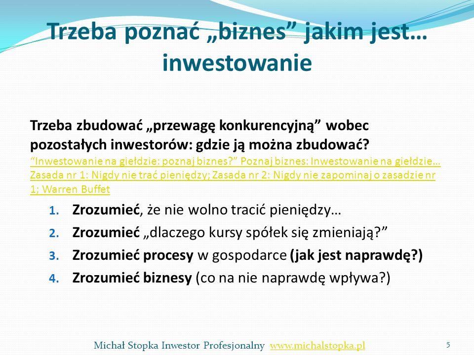 """Trzeba poznać """"biznes jakim jest… inwestowanie"""