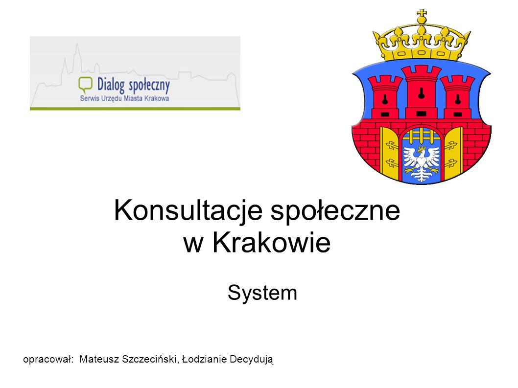 Konsultacje społeczne w Krakowie
