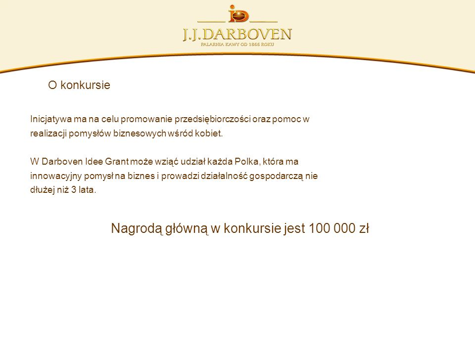 Nagrodą główną w konkursie jest 100 000 zł