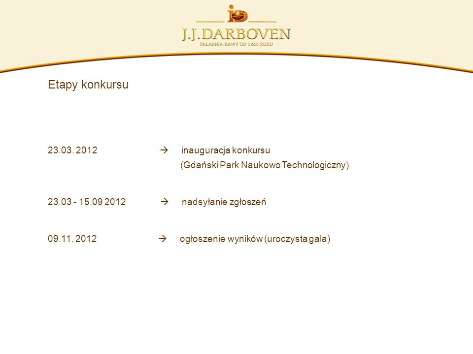 23.03. 2012  inauguracja konkursu
