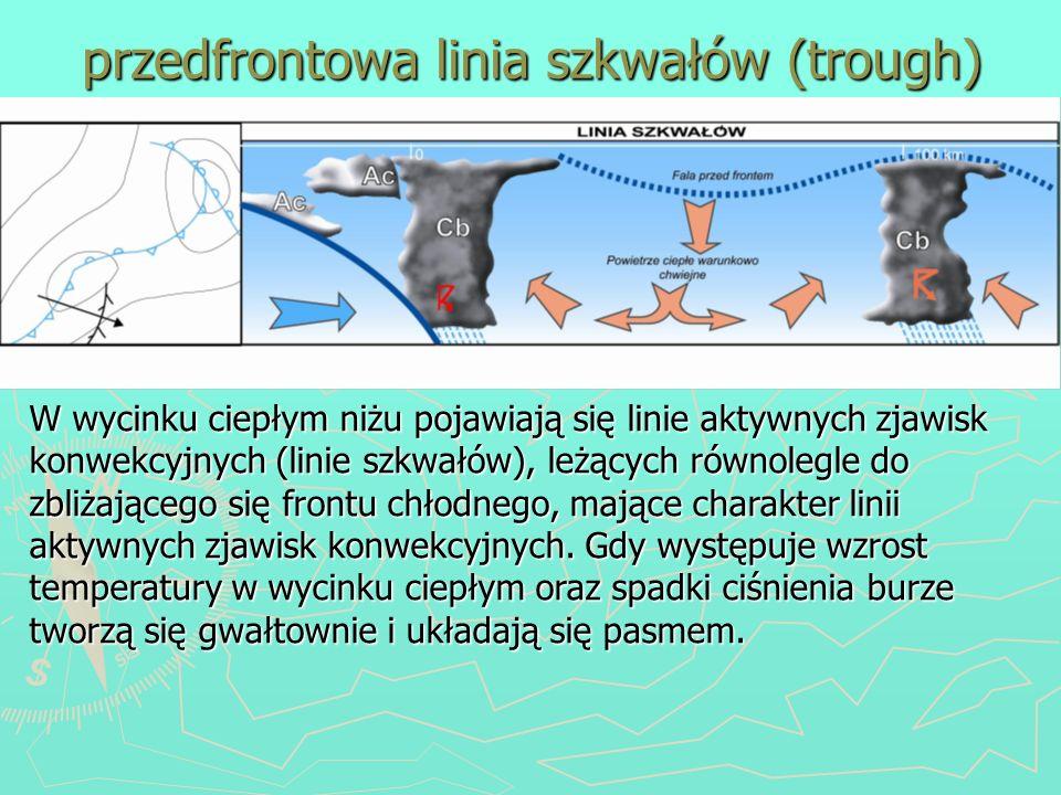 przedfrontowa linia szkwałów (trough)