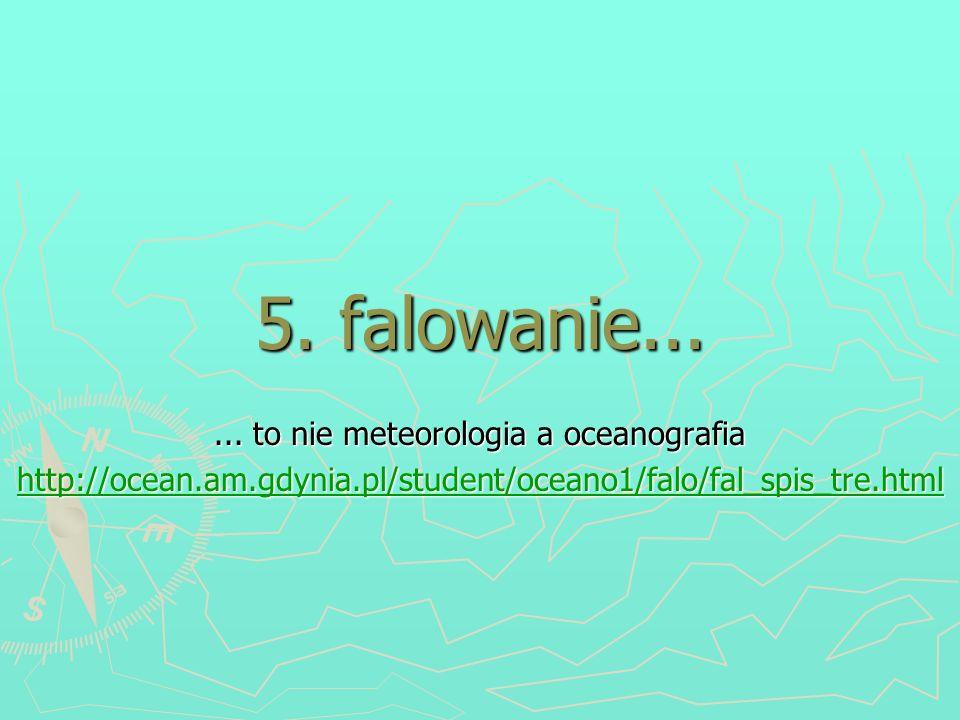 ... to nie meteorologia a oceanografia
