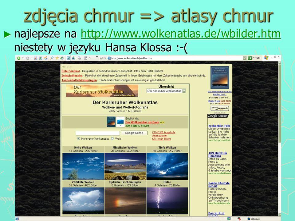 zdjęcia chmur => atlasy chmur
