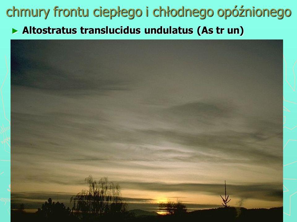 chmury frontu ciepłego i chłodnego opóźnionego