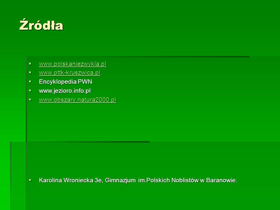 Źródła www.polskaniezwykla.pl www.pttk-kruszwica.pl Encyklopedia PWN