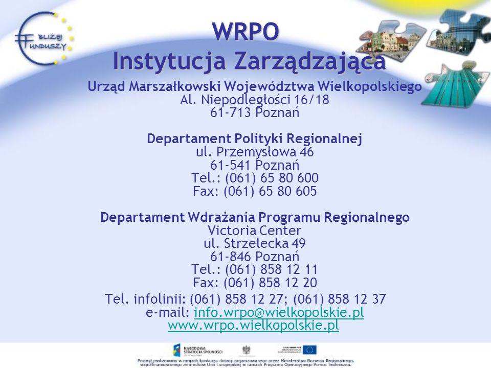 WRPO Instytucja Zarządzająca
