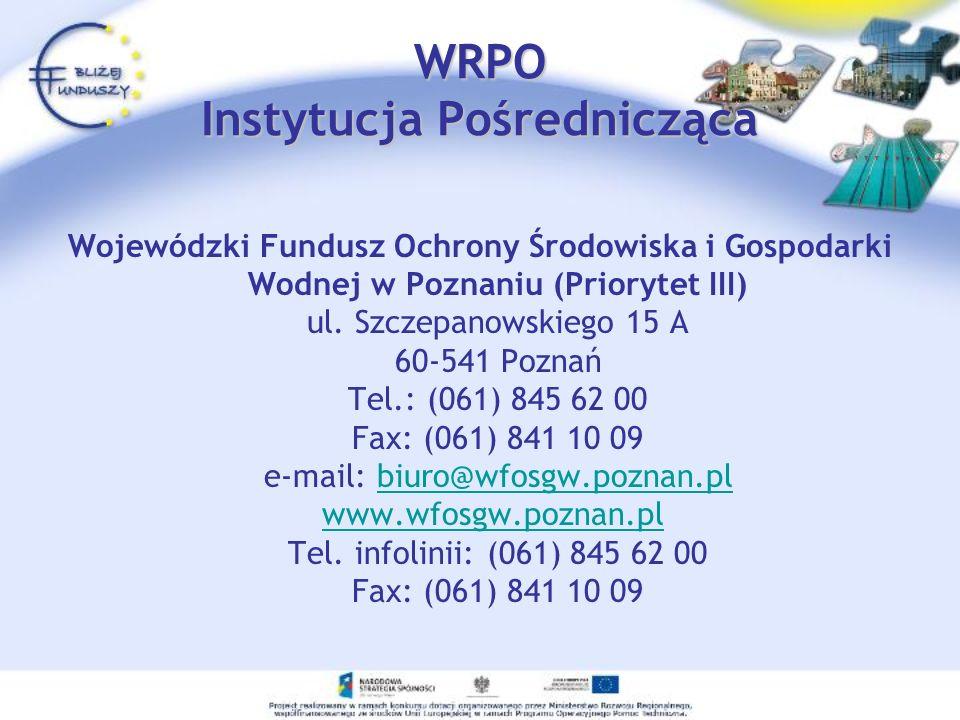 WRPO Instytucja Pośrednicząca