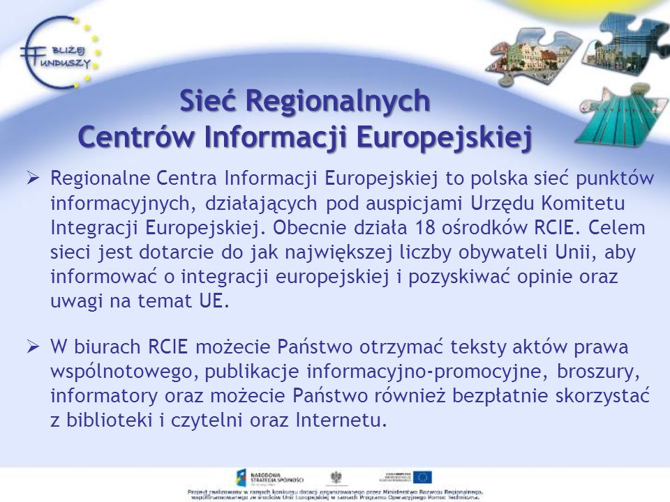 Sieć Regionalnych Centrów Informacji Europejskiej