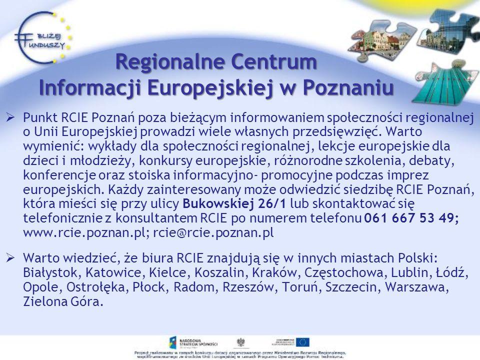 Regionalne Centrum Informacji Europejskiej w Poznaniu