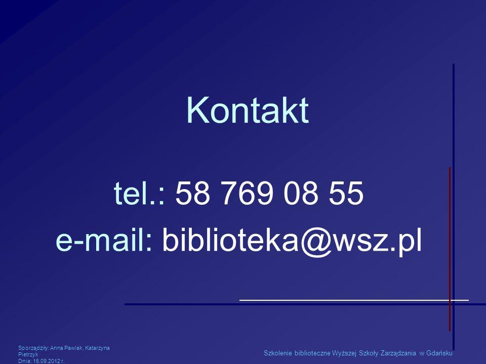 e-mail: biblioteka@wsz.pl