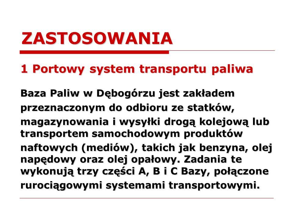 ZASTOSOWANIA 1 Portowy system transportu paliwa