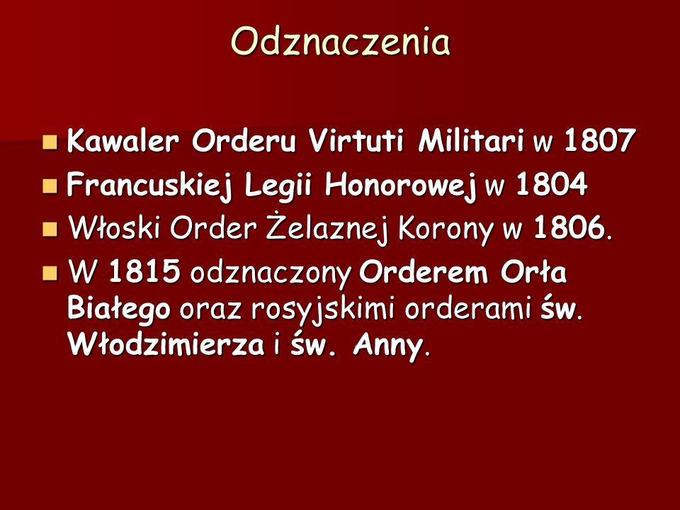 Odznaczenia Kawaler Orderu Virtuti Militari w 1807
