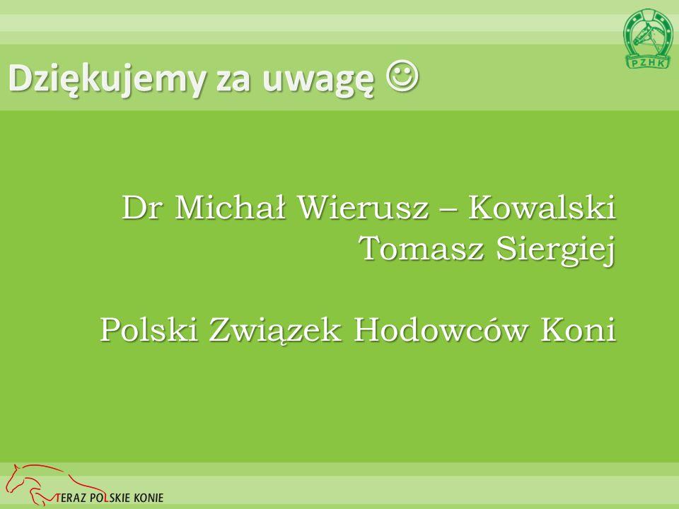 Dziękujemy za uwagę  Dr Michał Wierusz – Kowalski Tomasz Siergiej
