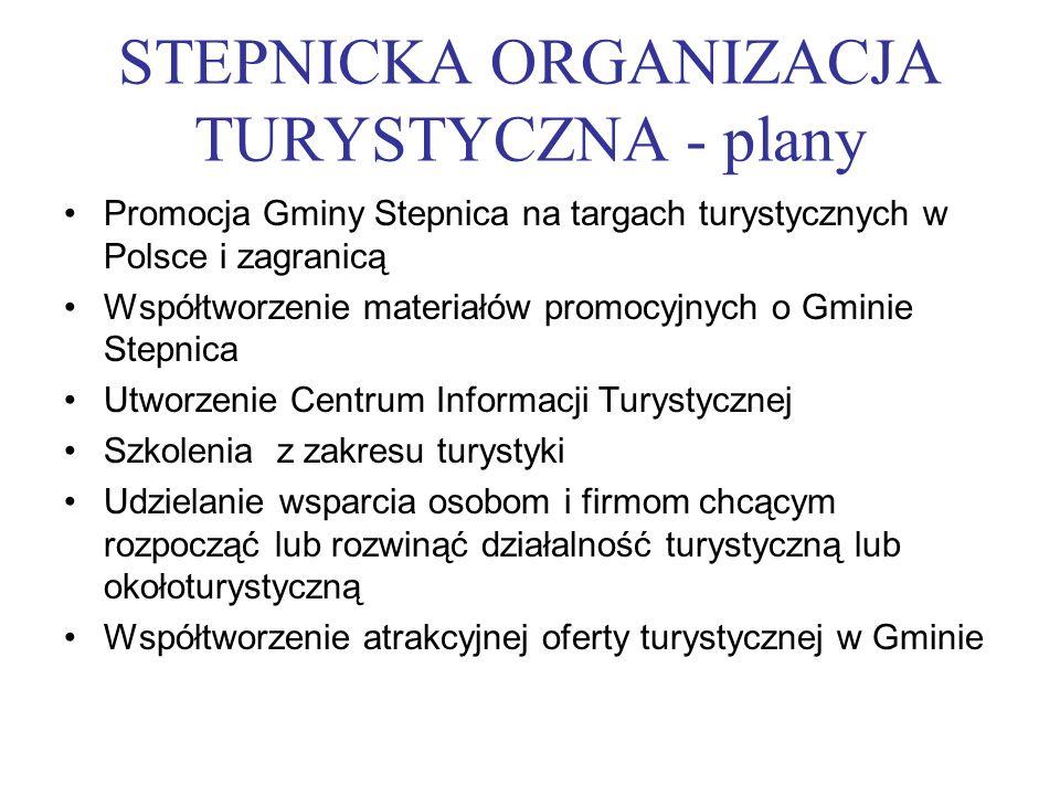 STEPNICKA ORGANIZACJA TURYSTYCZNA - plany