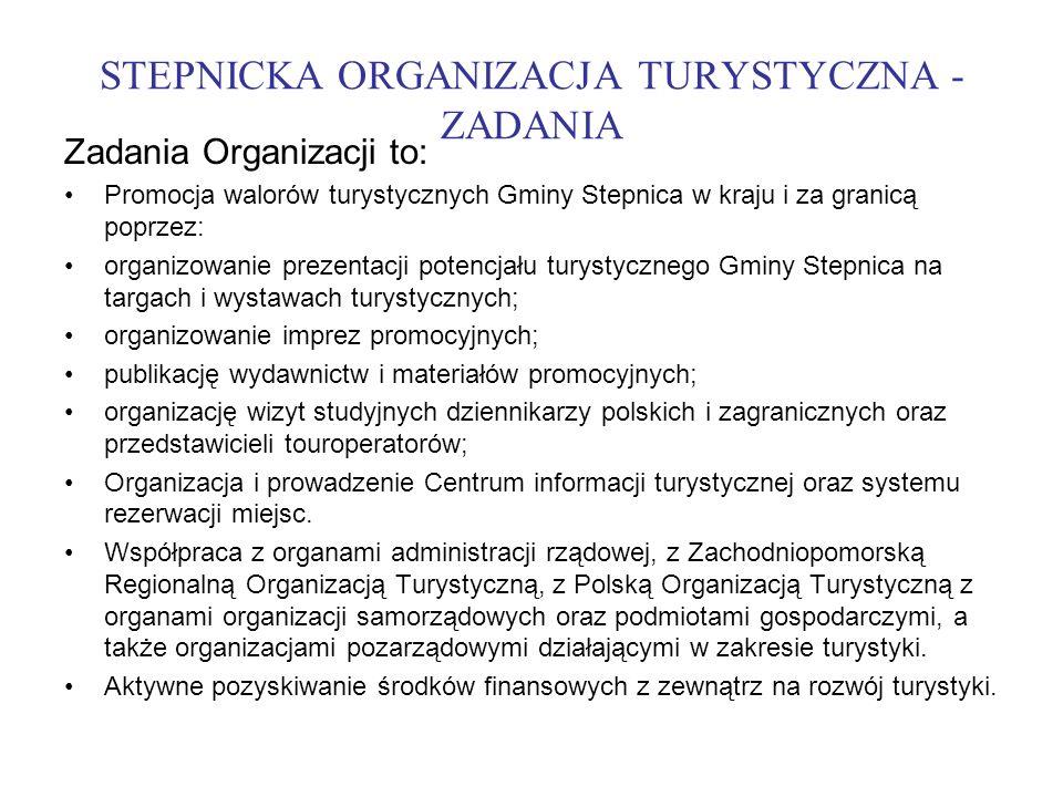 STEPNICKA ORGANIZACJA TURYSTYCZNA - ZADANIA