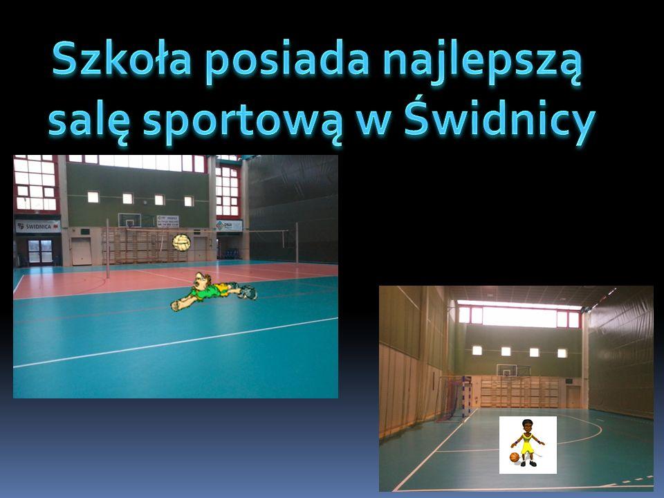 Szkoła posiada najlepszą salę sportową w Świdnicy