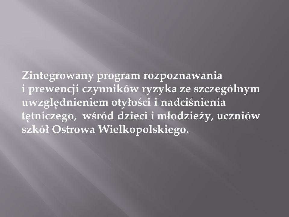 Zintegrowany program rozpoznawania i prewencji czynników ryzyka ze szczególnym uwzględnieniem otyłości i nadciśnienia tętniczego, wśród dzieci i młodzieży, uczniów szkół Ostrowa Wielkopolskiego.