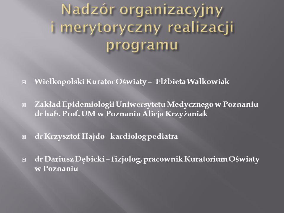 Nadzór organizacyjny i merytoryczny realizacji programu