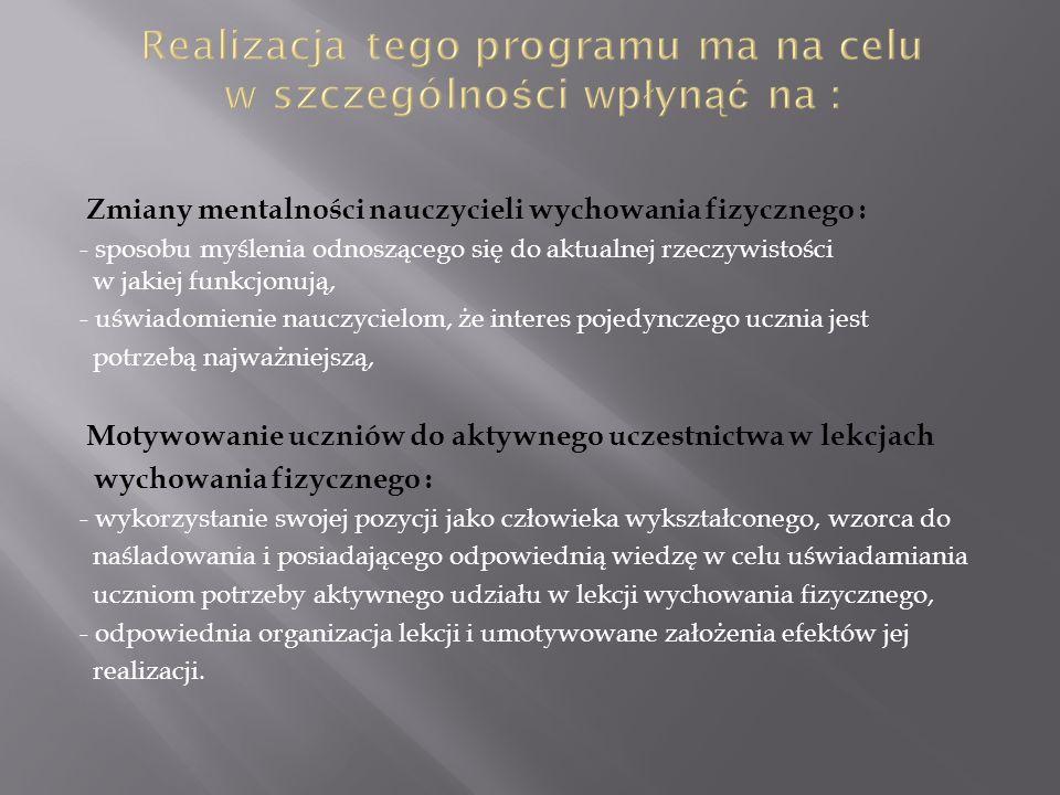 Realizacja tego programu ma na celu w szczególności wpłynąć na :