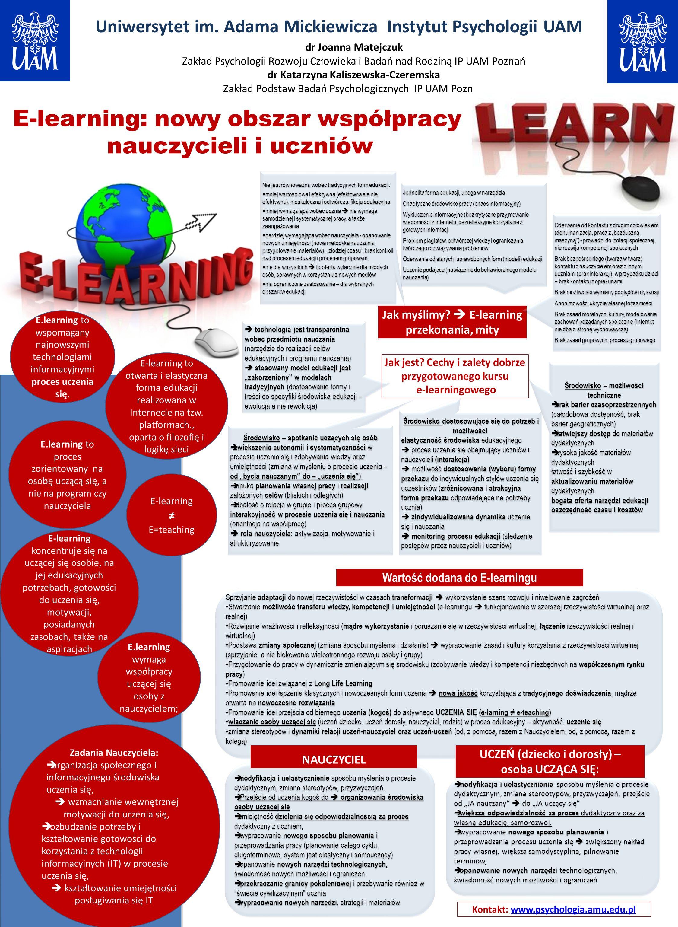 E-learning: nowy obszar współpracy nauczycieli i uczniów