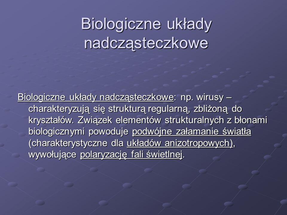 Biologiczne układy nadcząsteczkowe