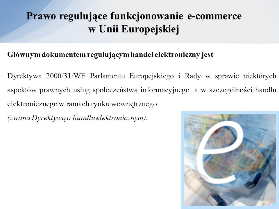 Prawo regulujące funkcjonowanie e-commerce