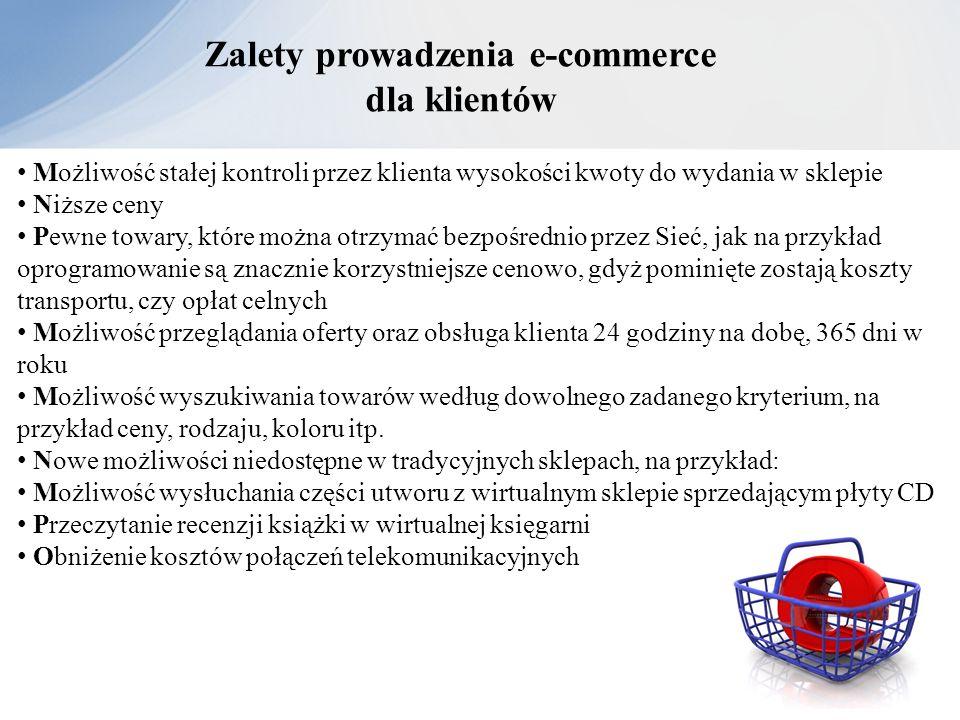 Zalety prowadzenia e-commerce dla klientów