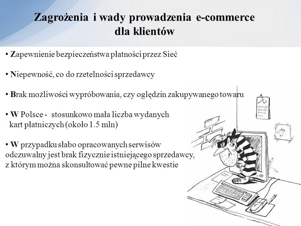 Zagrożenia i wady prowadzenia e-commerce dla klientów