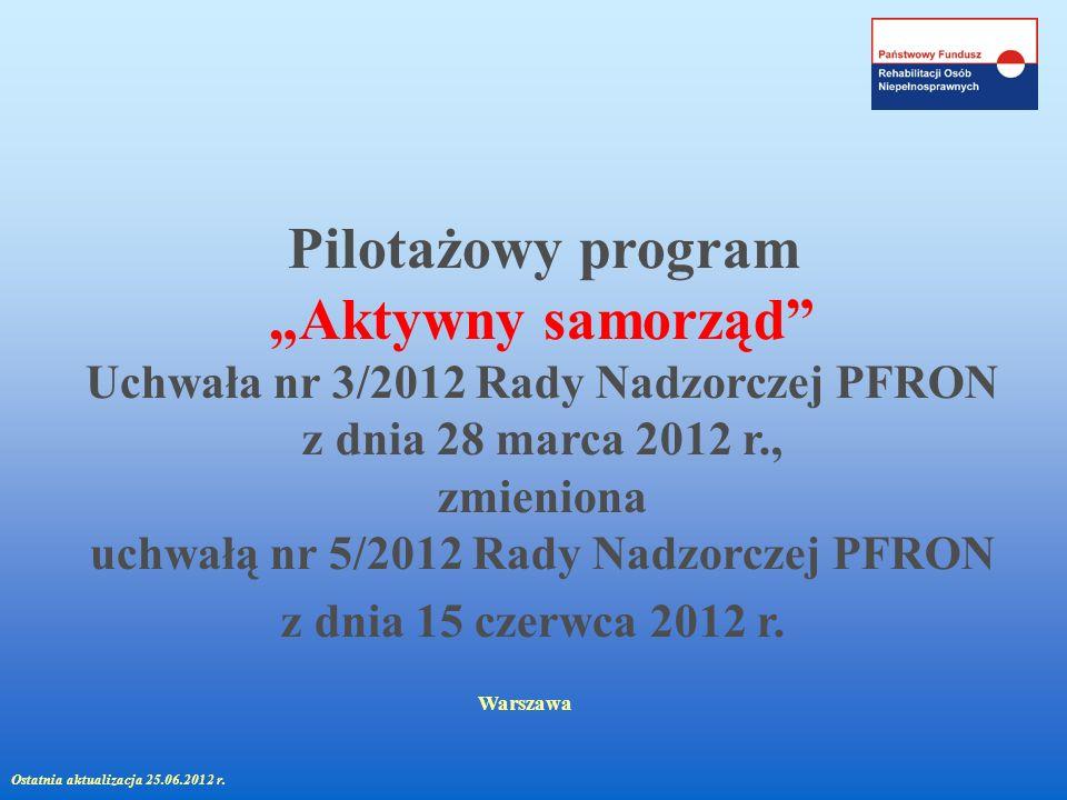 Uchwała nr 3/2012 Rady Nadzorczej PFRON z dnia 28 marca 2012 r.,