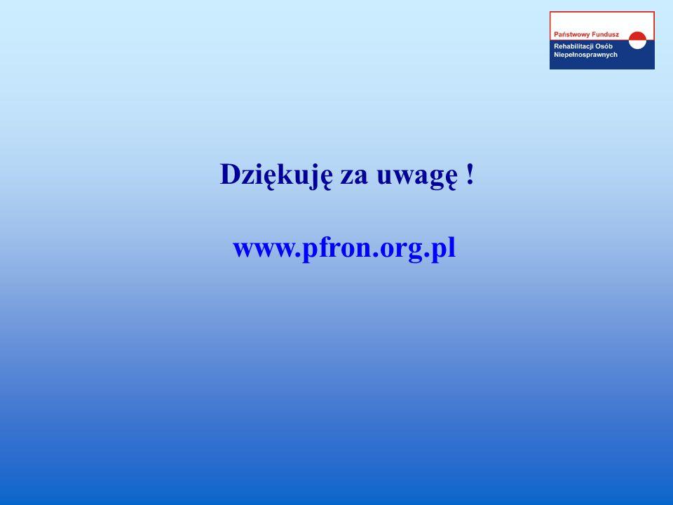 Dziękuję za uwagę ! www.pfron.org.pl