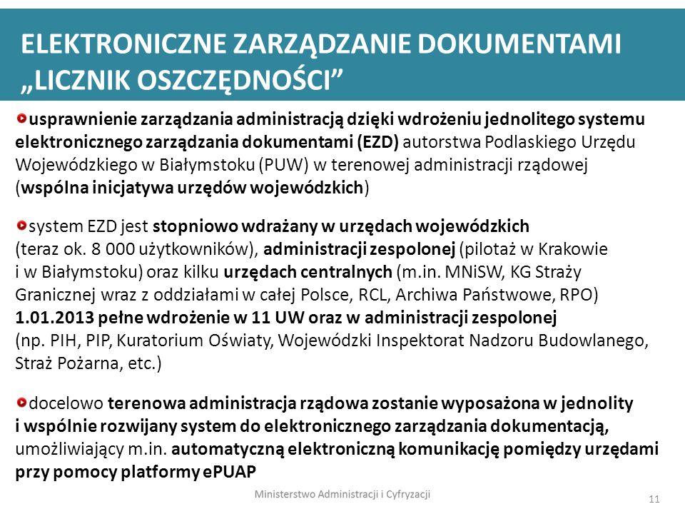 """ELEKTRONICZNE ZARZĄDZANIE DOKUMENTAMI """"LICZNIK OSZCZĘDNOŚCI"""
