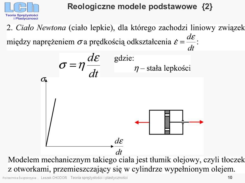 Reologiczne modele podstawowe {2}