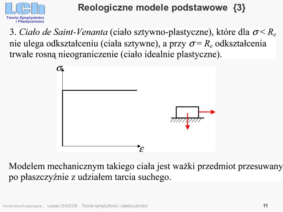 Reologiczne modele podstawowe {3}