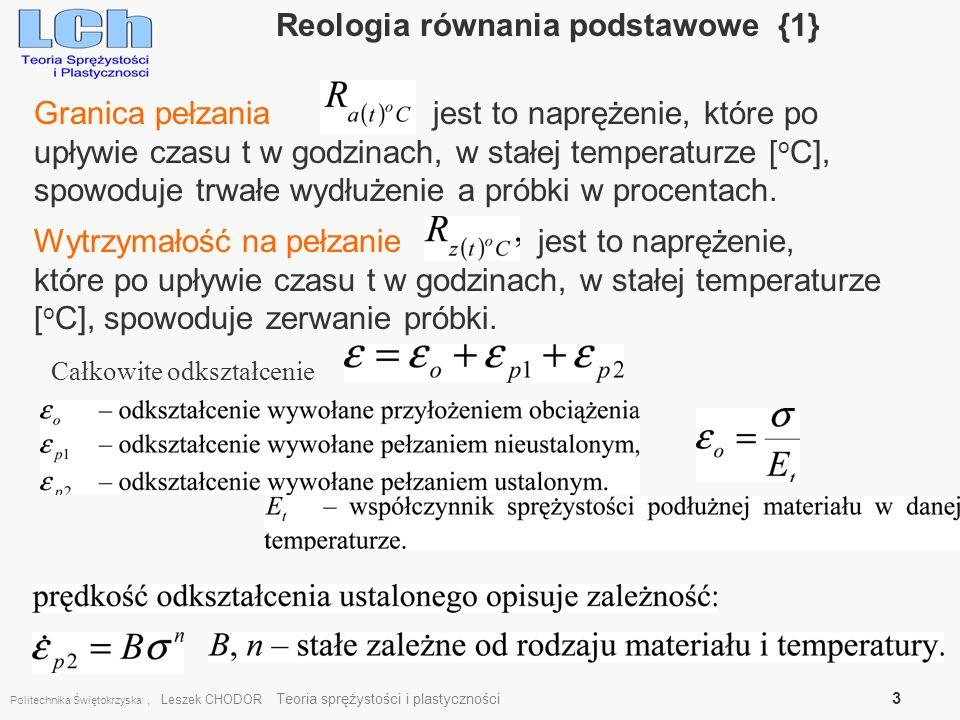 Reologia równania podstawowe {1}