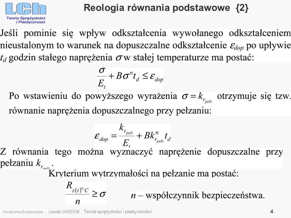 Reologia równania podstawowe {2}