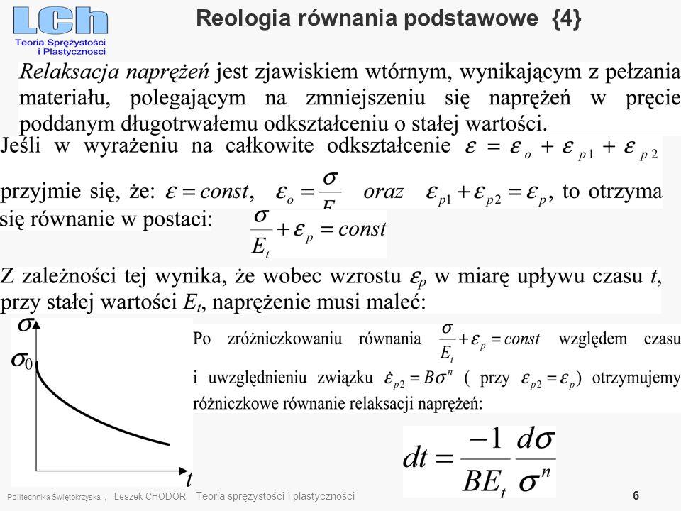 Reologia równania podstawowe {4}