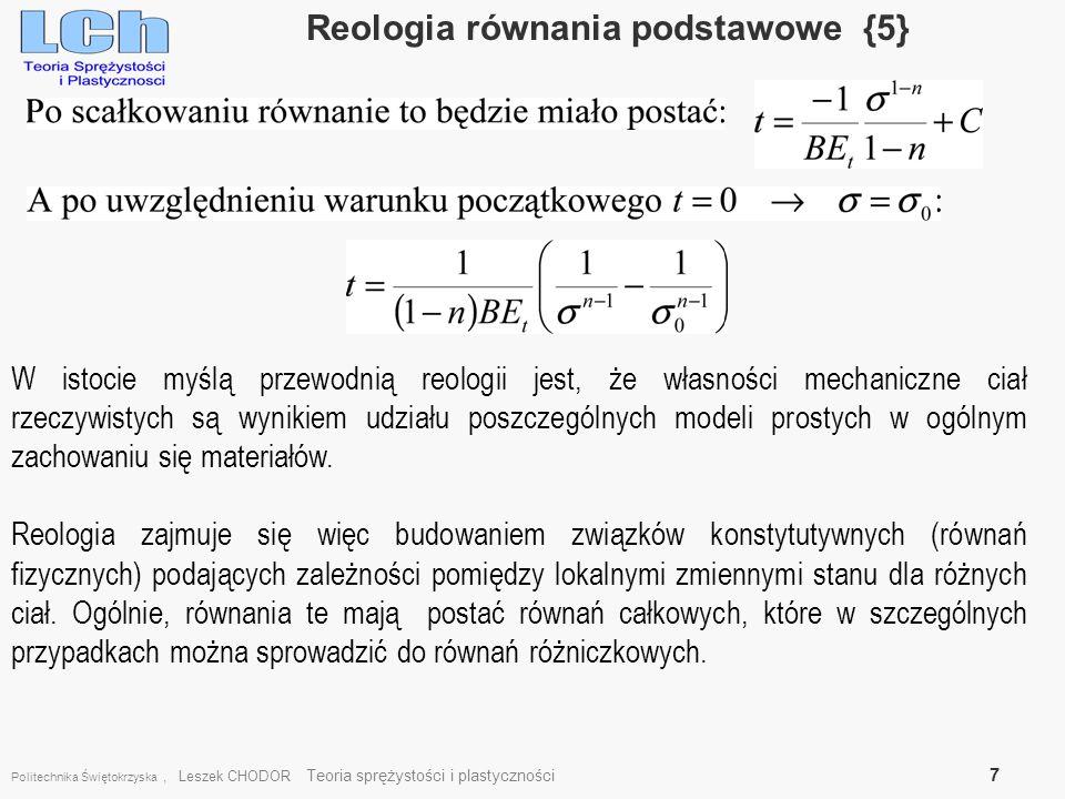 Reologia równania podstawowe {5}