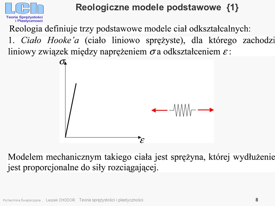 Reologiczne modele podstawowe {1}