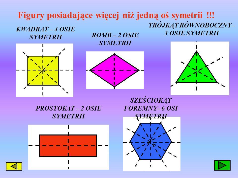 Figury posiadające więcej niż jedną oś symetrii !!!