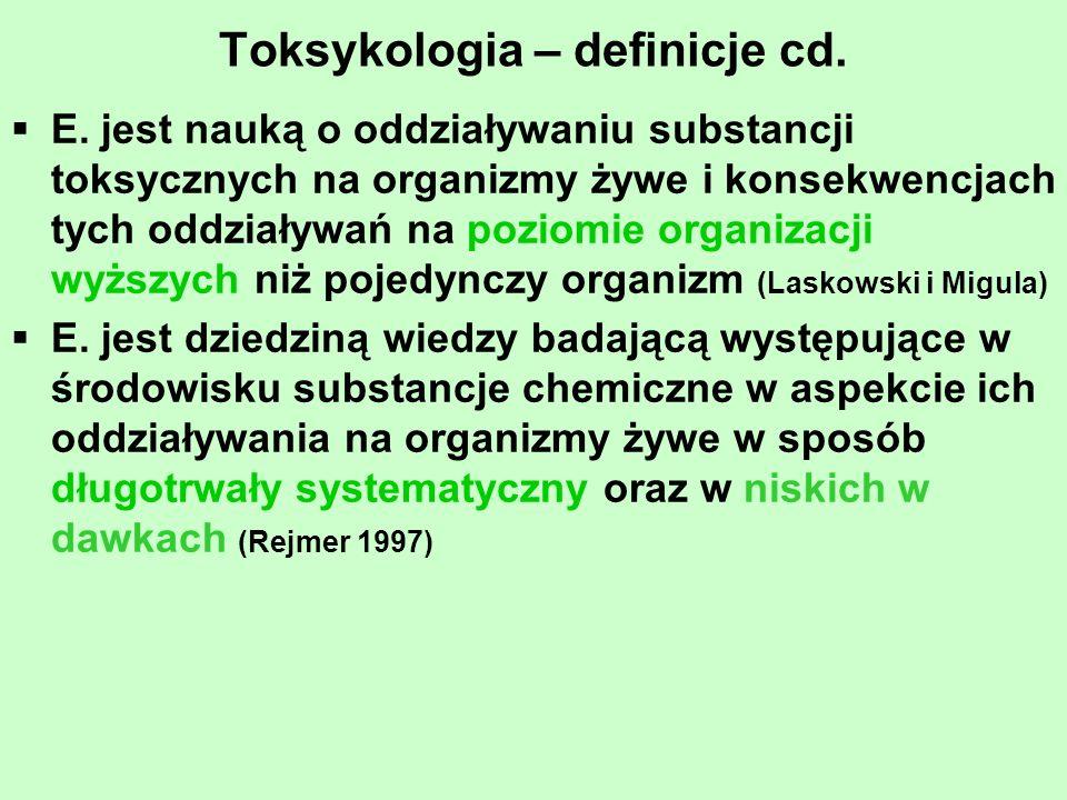 Toksykologia – definicje cd.