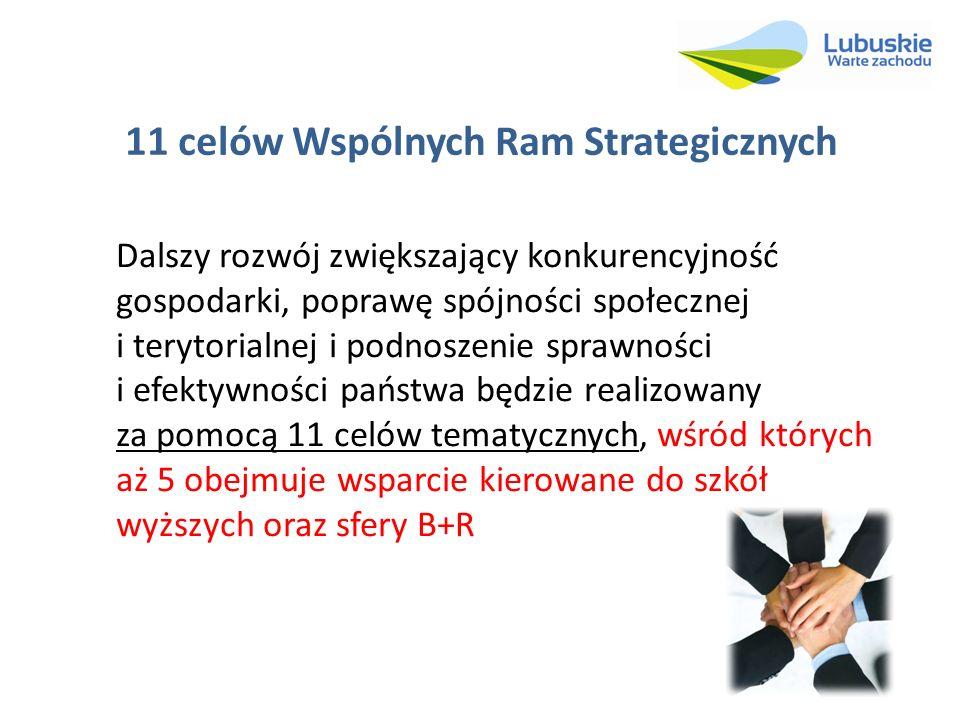 11 celów Wspólnych Ram Strategicznych