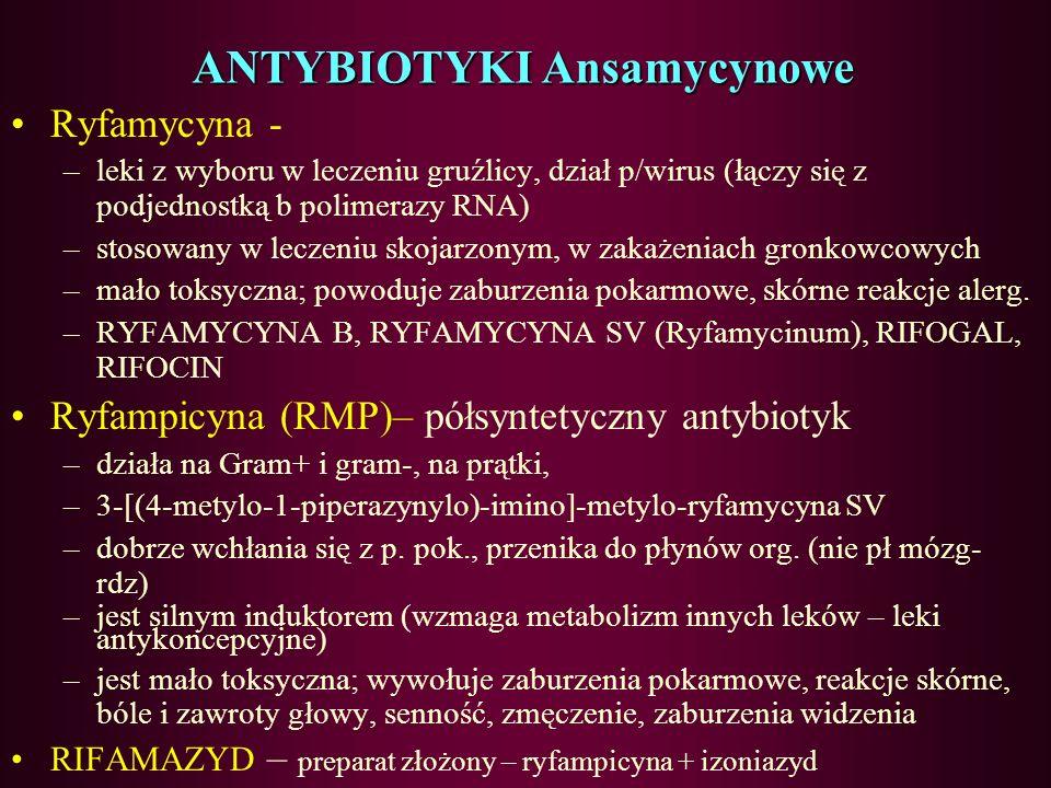 ANTYBIOTYKI Ansamycynowe