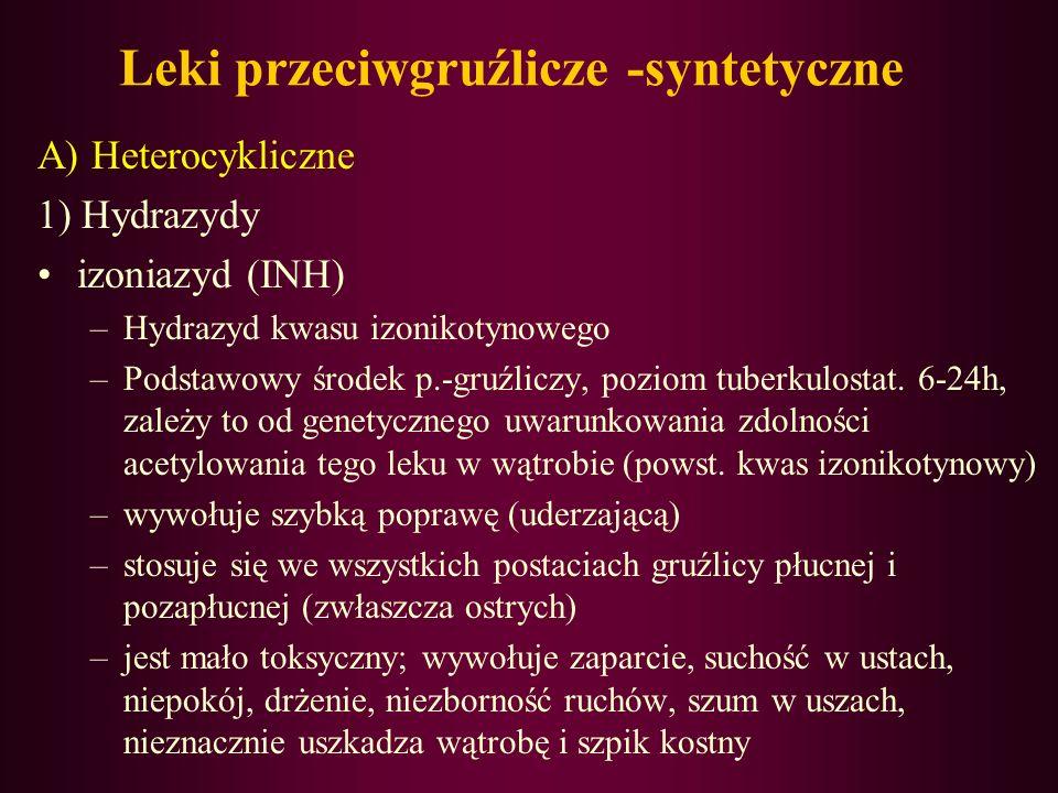 Leki przeciwgruźlicze -syntetyczne
