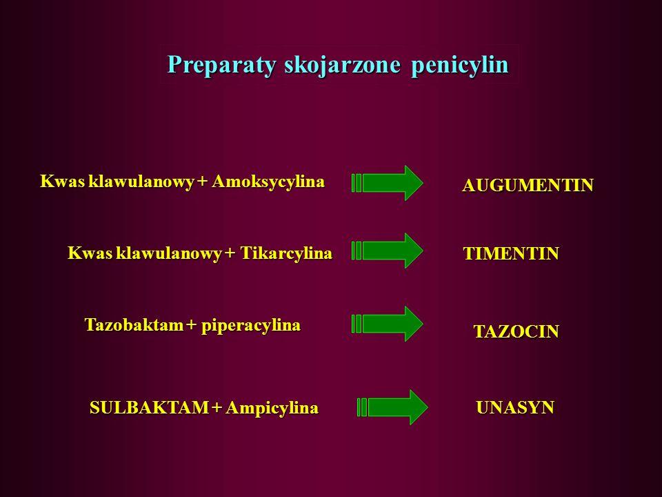 Preparaty skojarzone penicylin