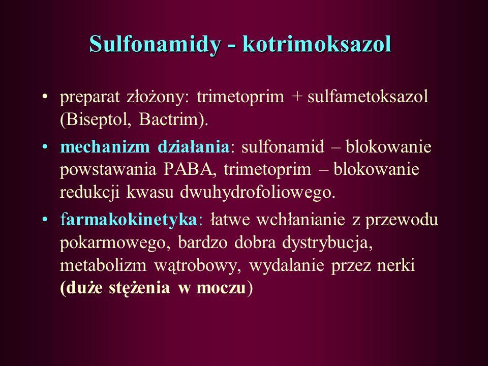 Sulfonamidy - kotrimoksazol