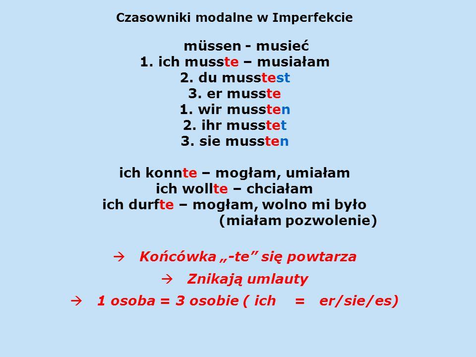 Czasowniki modalne w Imperfekcie