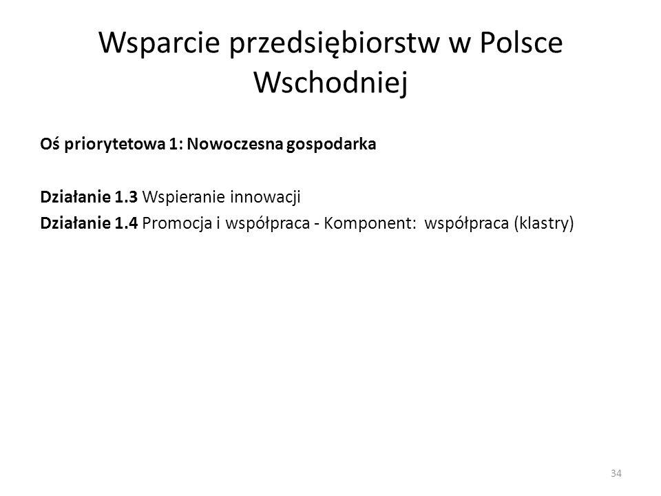 Wsparcie przedsiębiorstw w Polsce Wschodniej